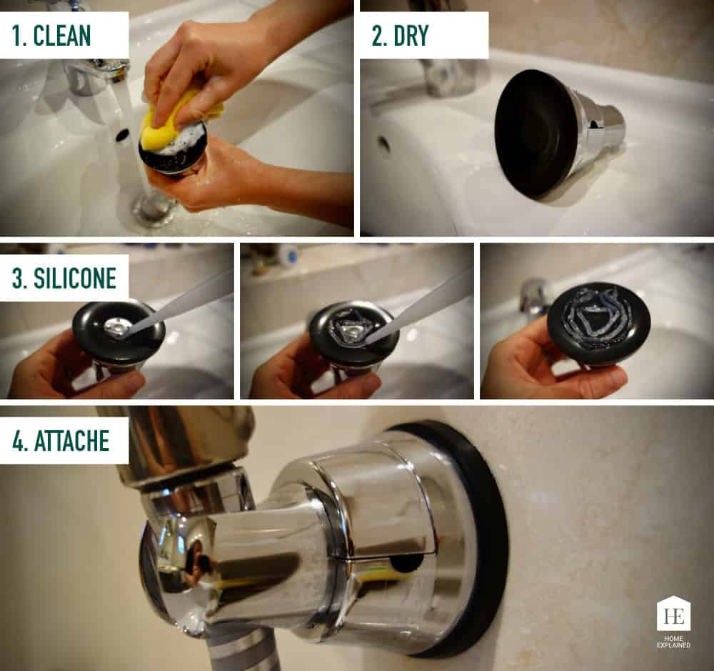 How to make a suction cup stick to a tiled shower wall I HomeExplained.com