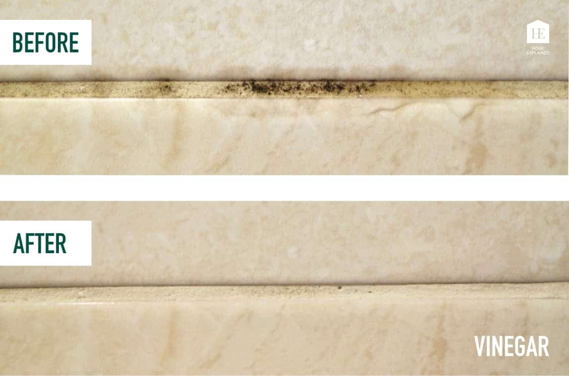 Getting rid of black mold from shower grout naturally with vinegar   HomeExplained.com
