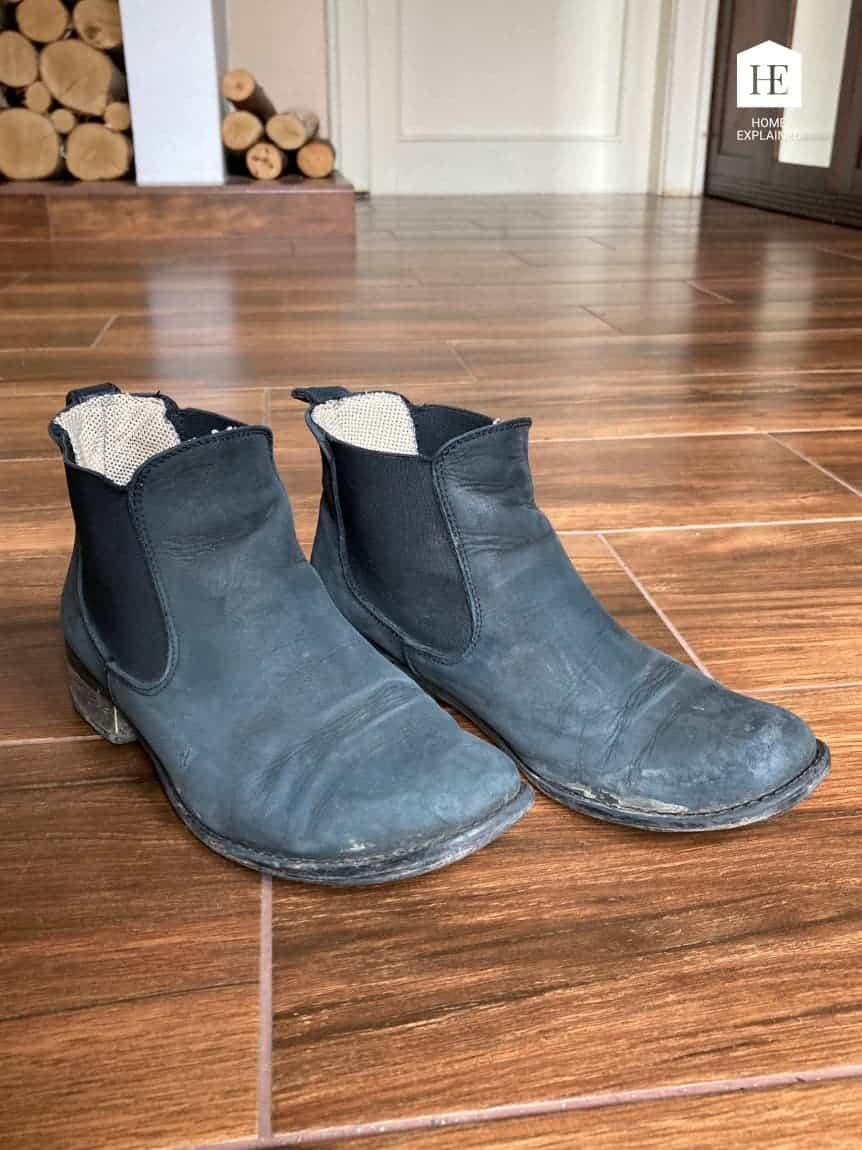 Nubuck Shoes before Restoration