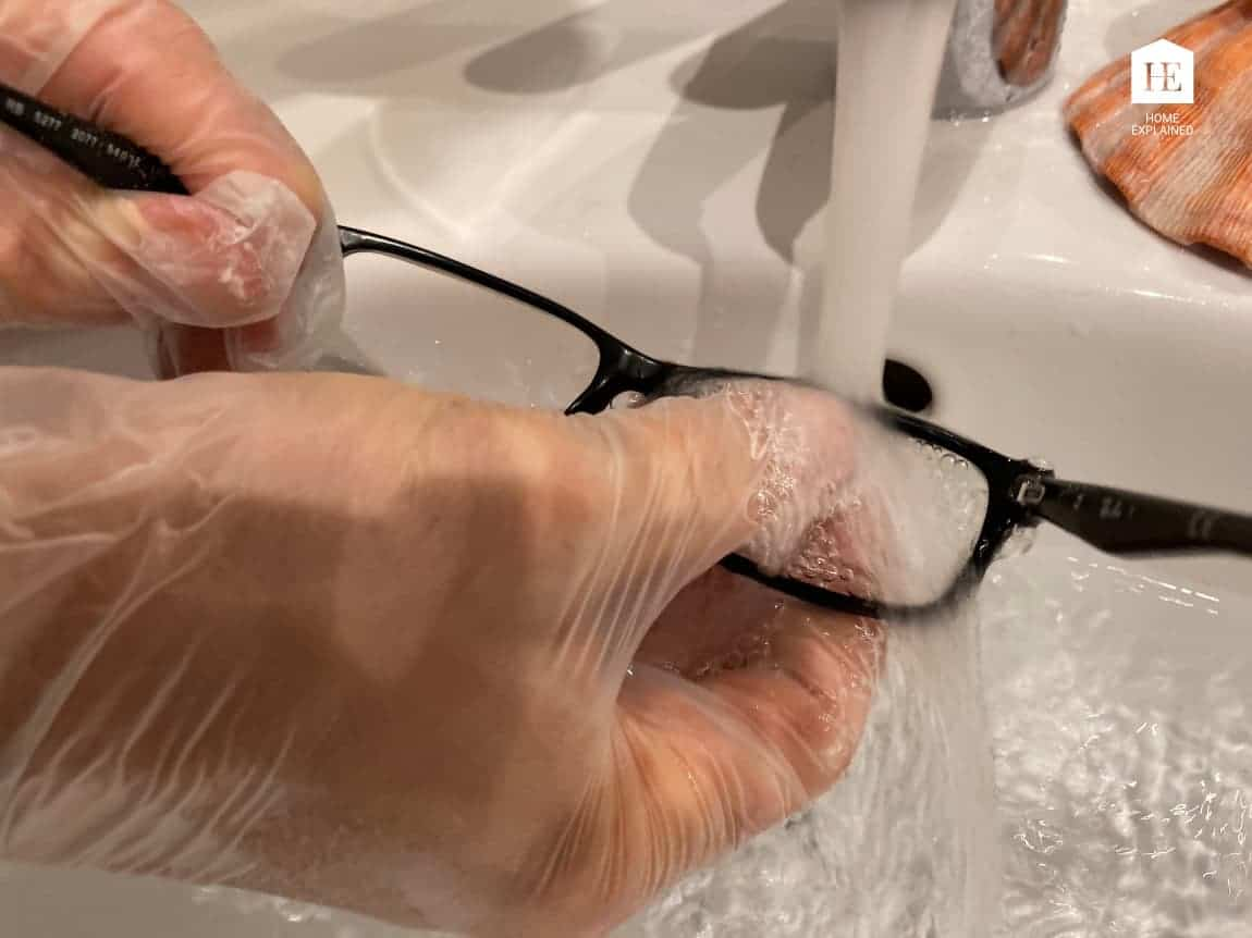 Removing an anti-reflective coating from plastic lenses - STEP 6