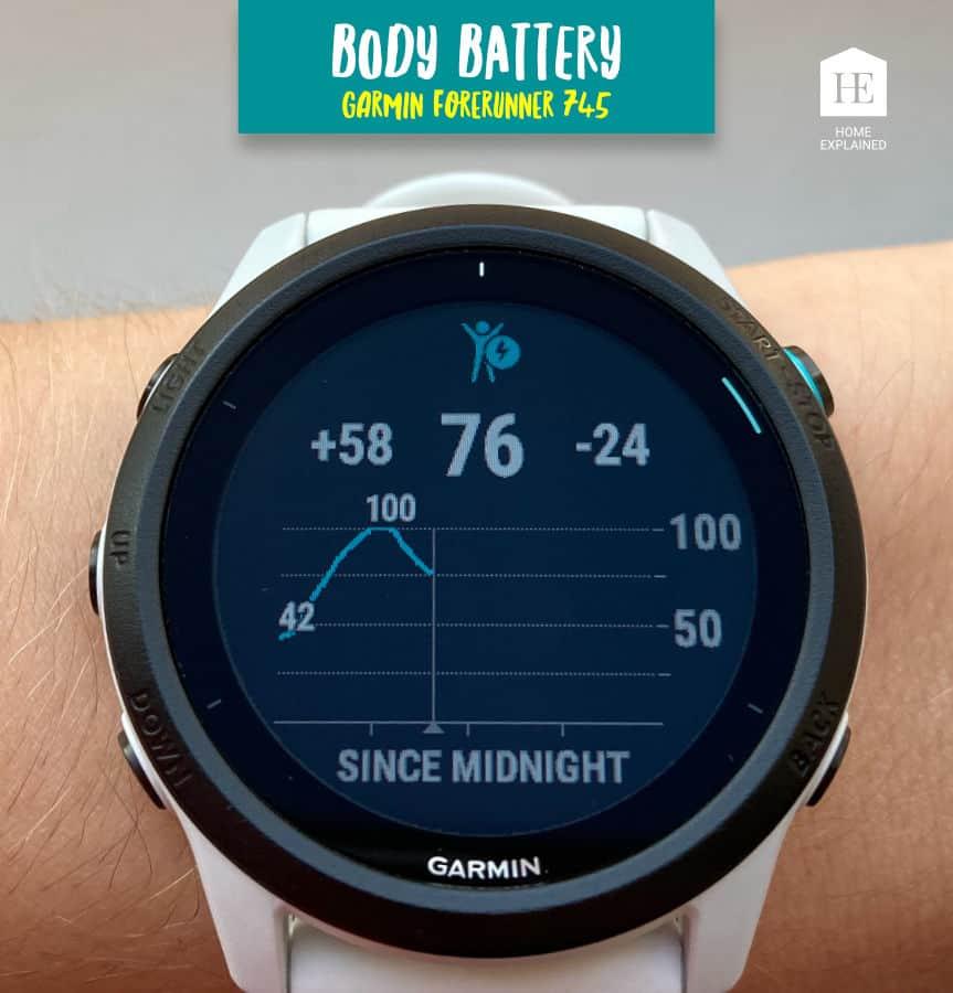 Body Battery Screen Garmin Forerunner 745