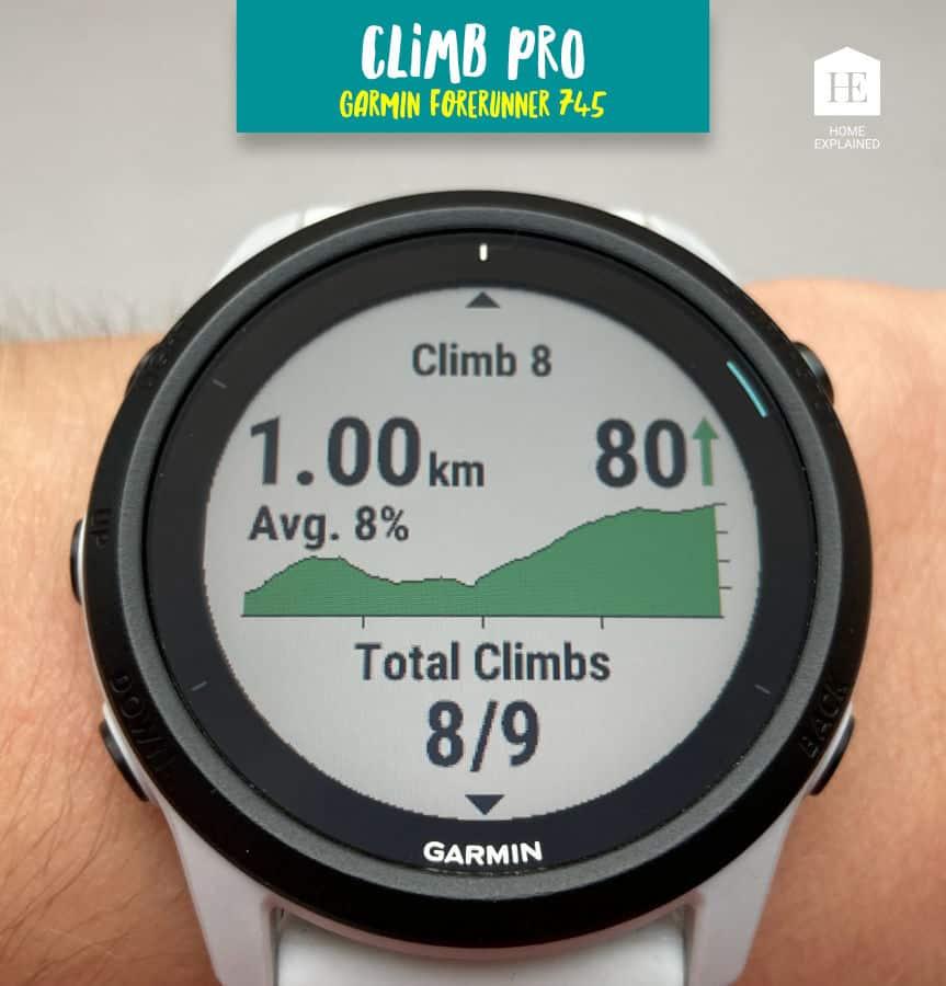 Climb Pro Screen Garmin Forerunner 745
