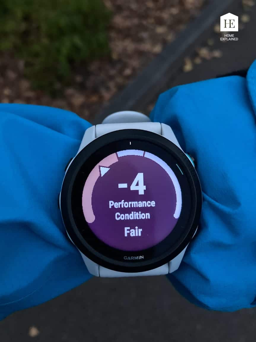 Performance Condition Garmin Forerunner 745 Screen