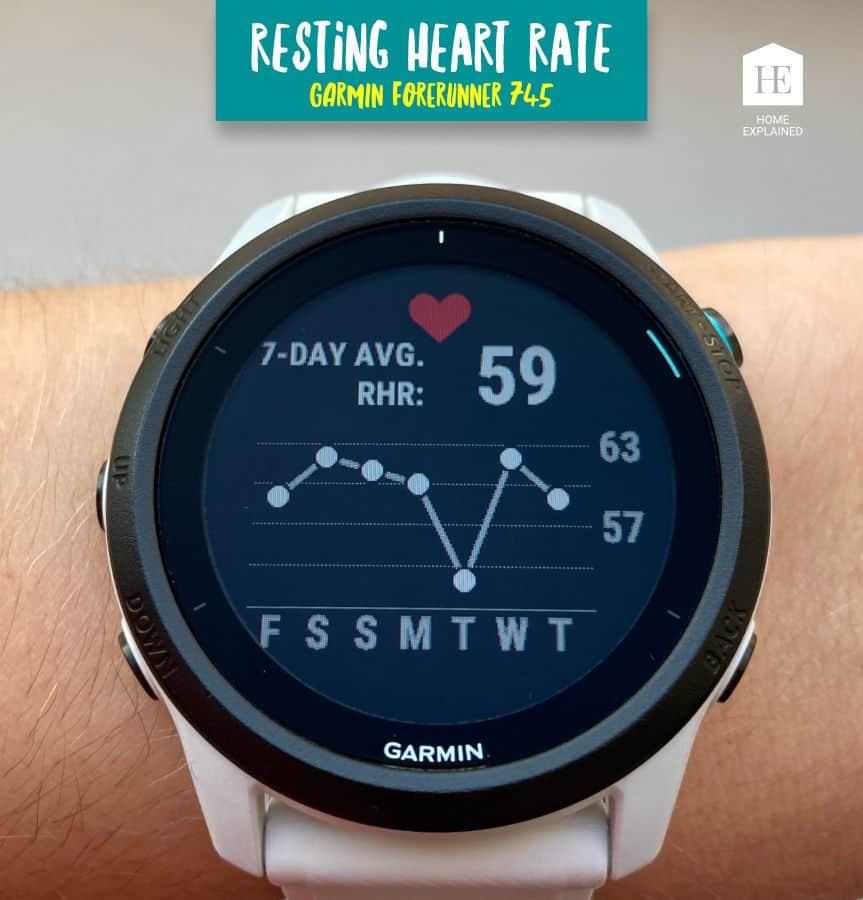 Resting Heart Rate Screen Garmin Forerunner 745