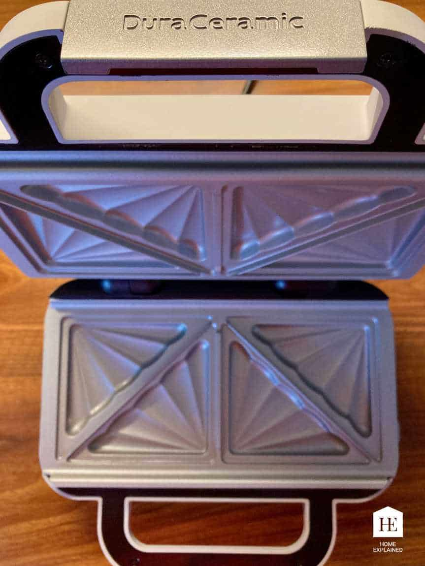Teflon Free Sandwich Maker Ceramic Plates   HomeExplained.com