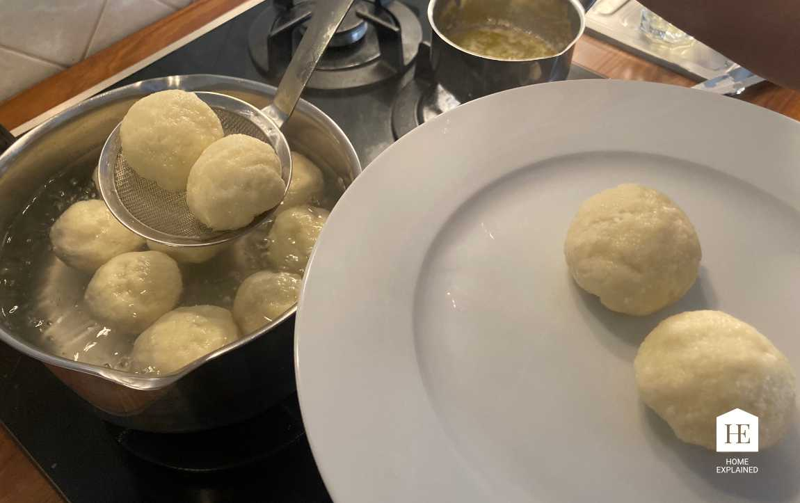 Traditional Czech Fruit Dumplings Recipe Step 7 | HomeExplained.com