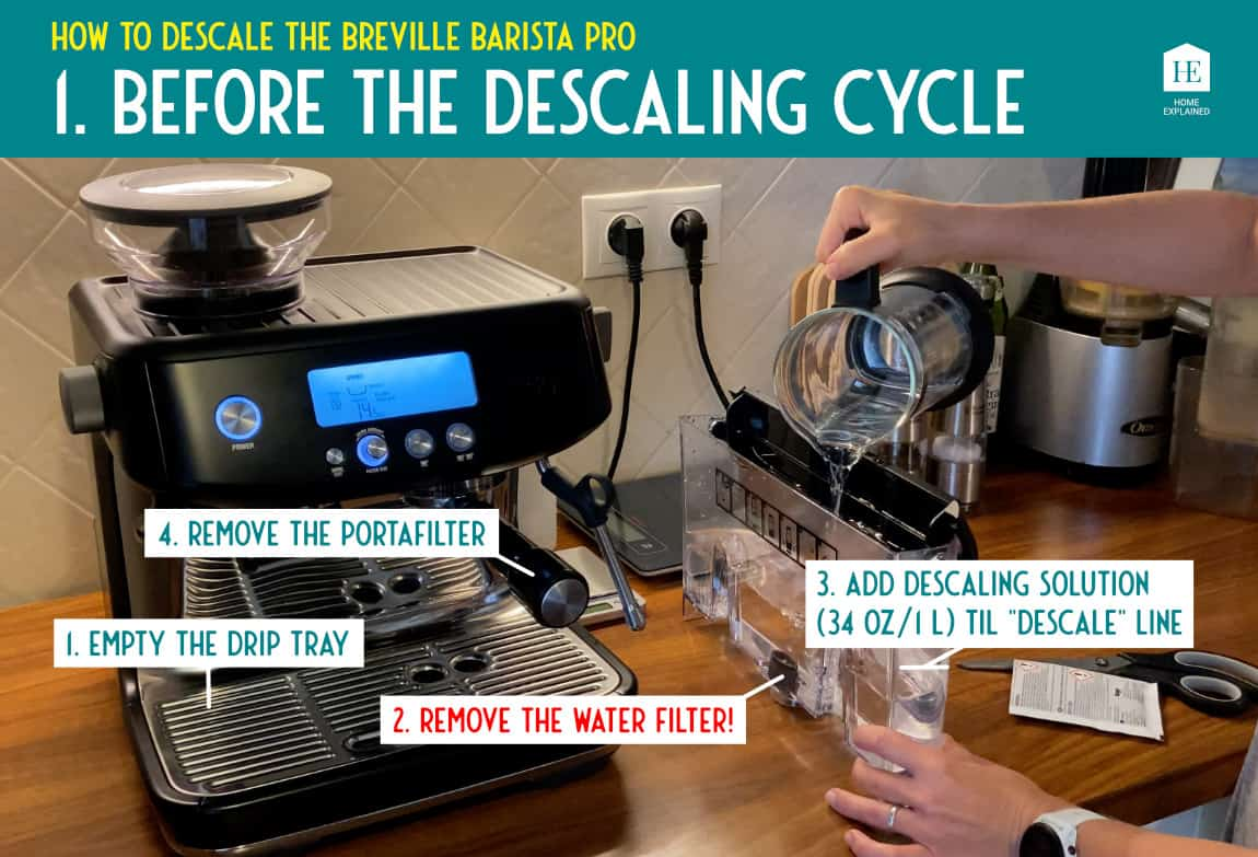 How to descale the Breville Barista Pro 1 | HomeExplained.com