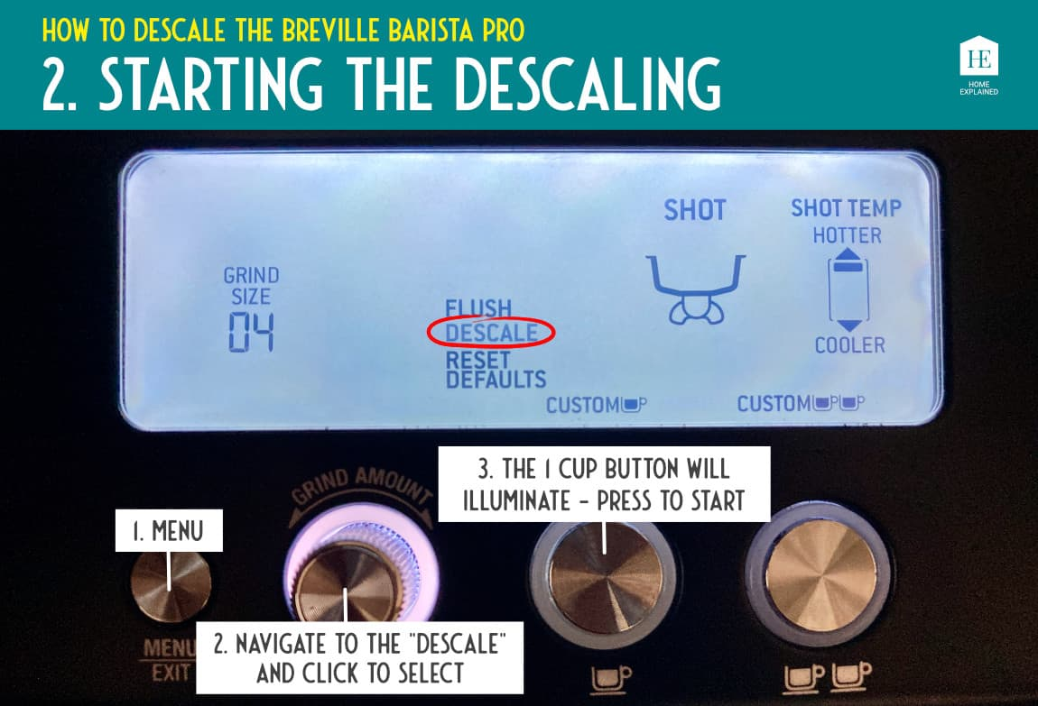 How to descale the Breville Barista Pro 2 | HomeExplained.com