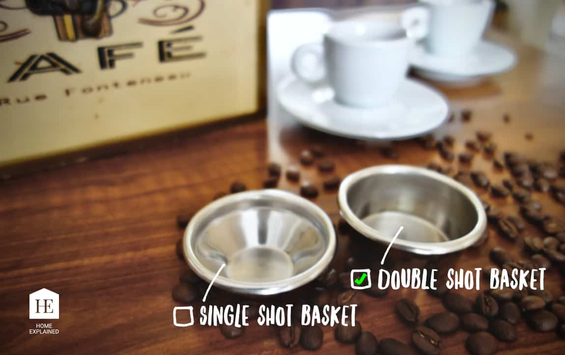 Double Shot Basket vs Single Shot Basket - Breville Barista Pro   HomeExplained.com
